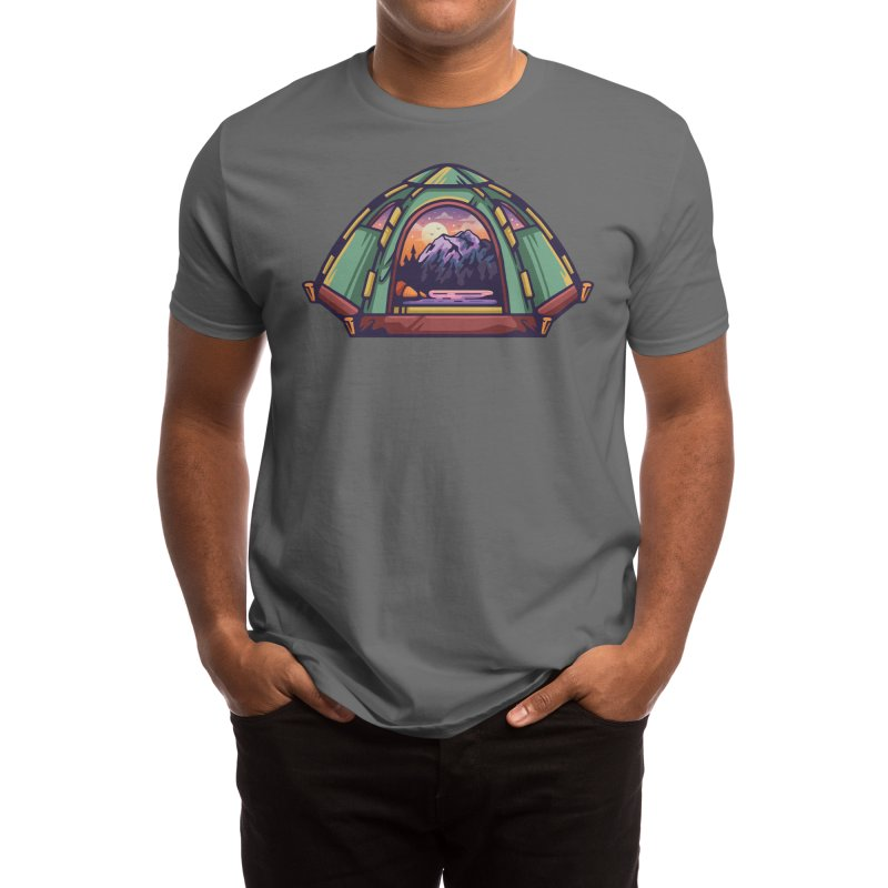 TENT OUTDOORS Men's T-Shirt by Nowhere Land