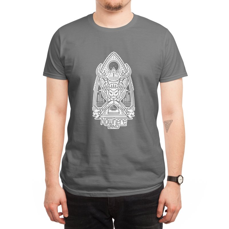 BISON CAMP Men's T-Shirt by Nowhere Land