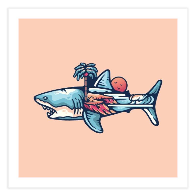 SHARK OUTDOORS Home Fine Art Print by Nowhere Land