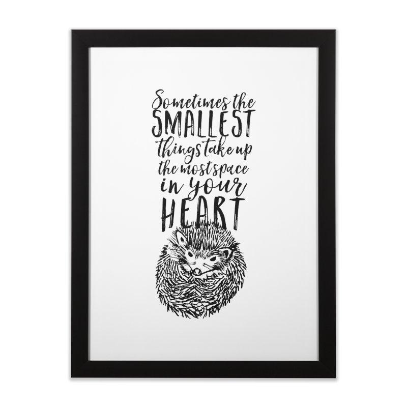 Hedgehog Love in Framed Fine Art Print Black by Nox + Quills Creative
