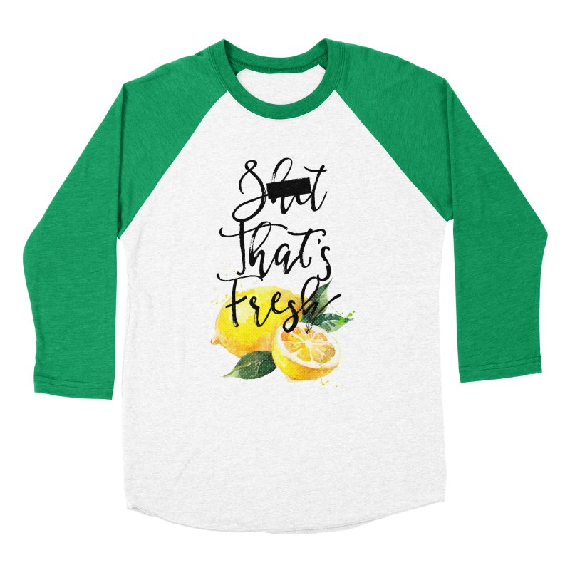 S**t That's Fresh in Women's Baseball Triblend T-Shirt Tri-Kelly Sleeves by Nox + Quills Creative