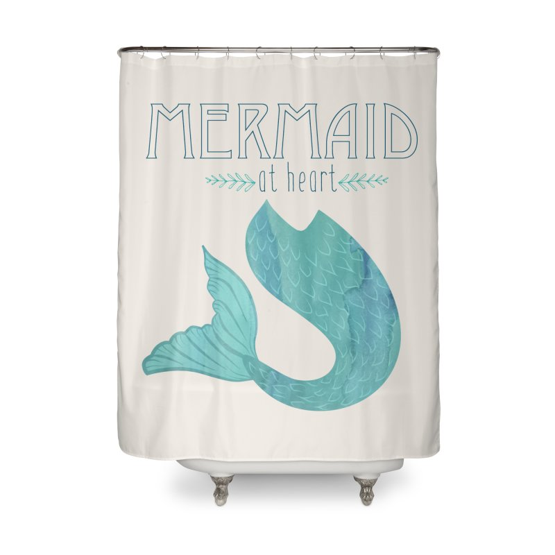 Mermaid at Heart in Shower Curtain by Nox + Quills Creative