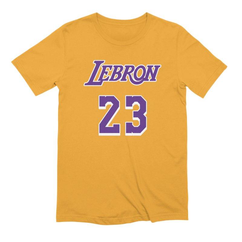 L.A. Bron Home (Men's & Women's) Men's Extra Soft T-Shirt by NPHA.SHOP