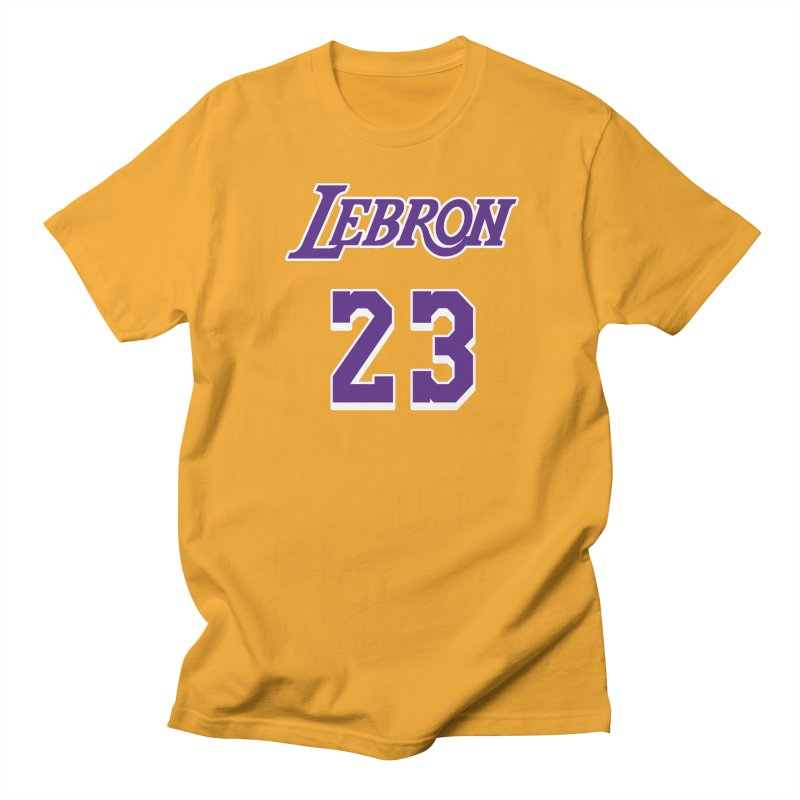 L.A. Bron Home (Men's & Women's) in Men's Regular T-Shirt Gold by NPHA.SHOP