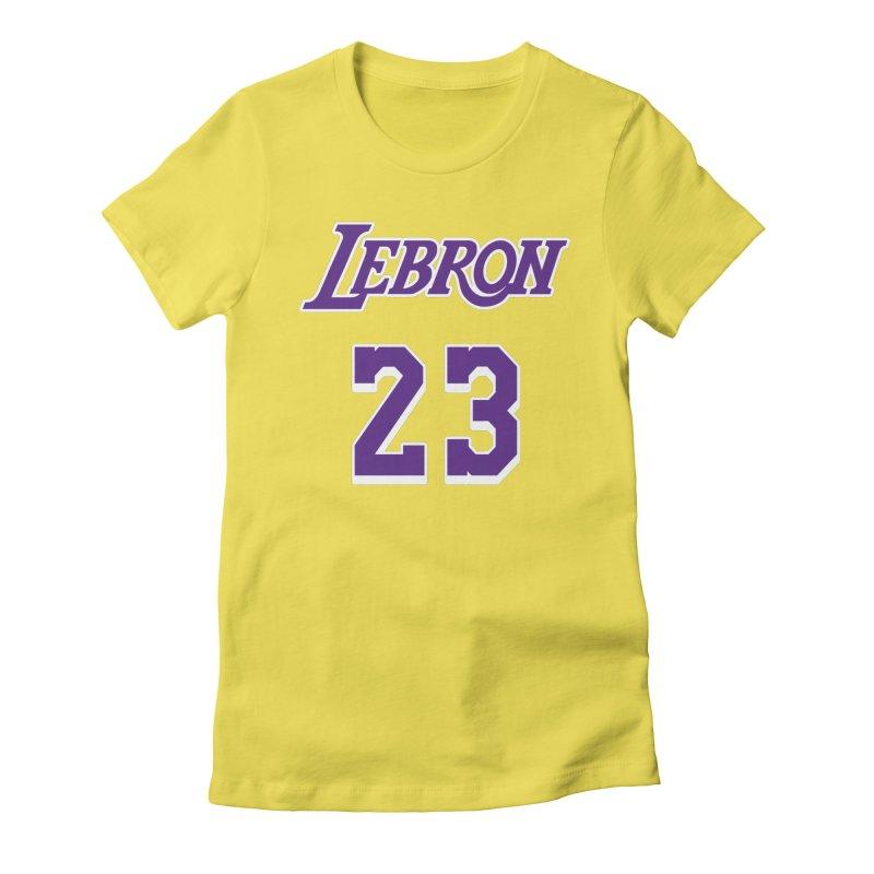L.A. Bron Home (Men's & Women's) Women's Fitted T-Shirt by NPHA.SHOP