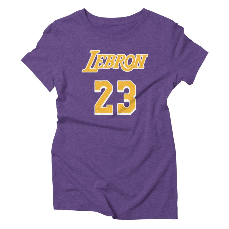 L.A. Bron Road (Men's & Women's) Women's Triblend T-Shirt by NPHA.SHOP