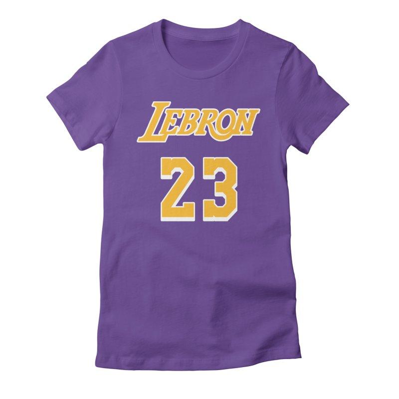 L.A. Bron Road (Men's & Women's) Women's Fitted T-Shirt by NPHA.SHOP