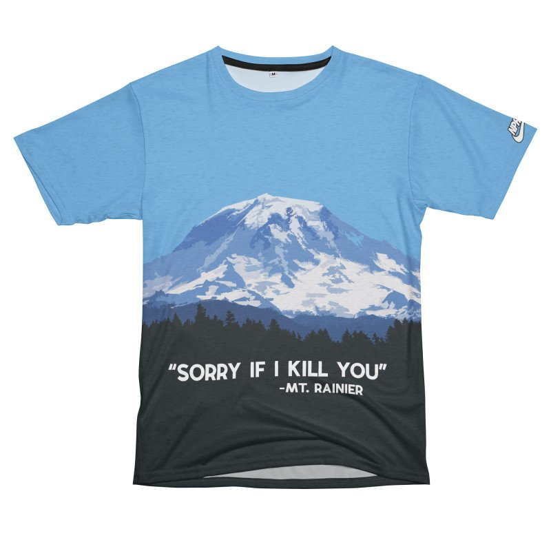 Killer Mt. Rainier (Men's & Women's) Women's Unisex French Terry T-Shirt Cut & Sew by NPHA.SHOP