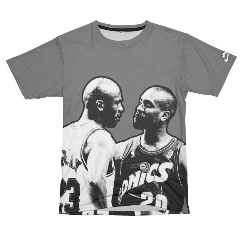 Payton Vs. Jordan (Men's & Women's) Men's French Terry T-Shirt Cut & Sew by NPHA.SHOP