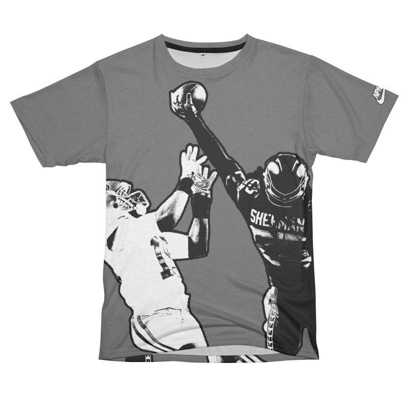 Sherman Vs. Crabtree (Men's & Women's) Men's French Terry T-Shirt Cut & Sew by NPHA.SHOP