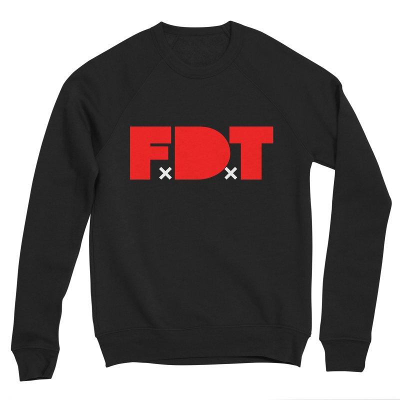 TDE x FDT Red (Men's & Women's) in Men's Sponge Fleece Sweatshirt Black by NPHA.SHOP