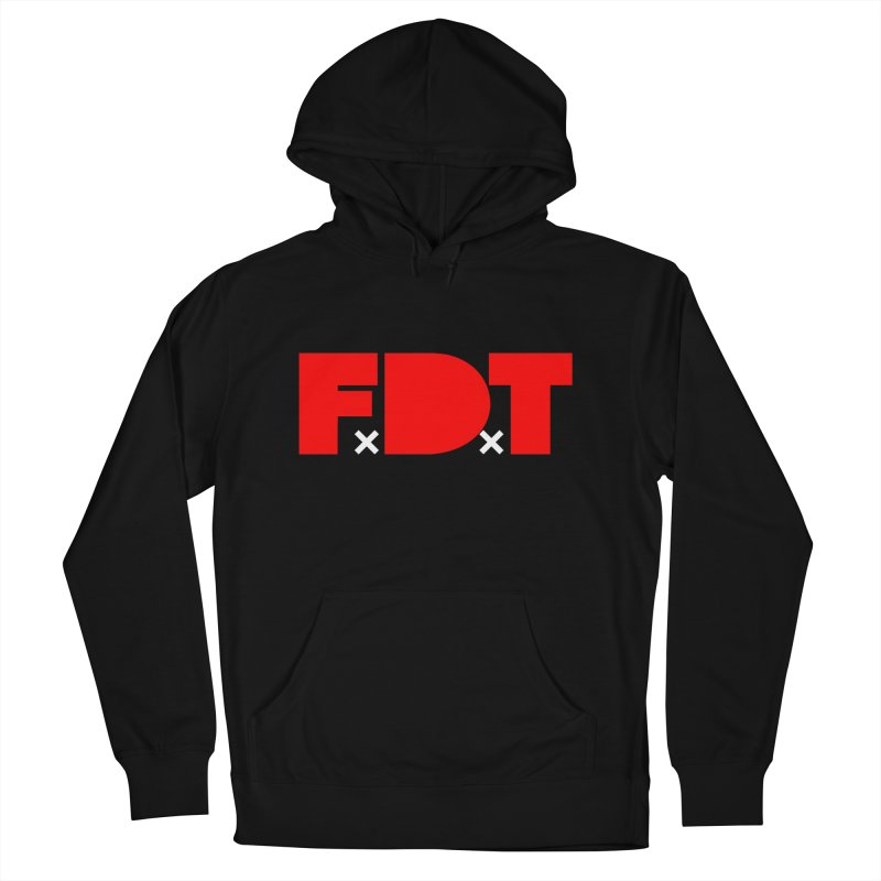 TDE x FDT Red (Men's & Women's) in Men's French Terry Pullover Hoody Black by NPHA.SHOP