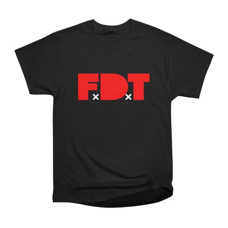 TDE x FDT Red (Men's & Women's) in Men's Heavyweight T-Shirt Black by NPHA.SHOP