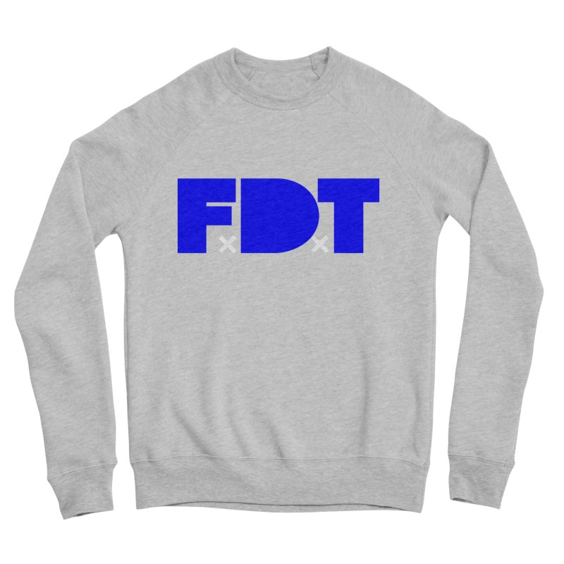 TDE x FDT Blue (Men's & Women's) in Men's Sponge Fleece Sweatshirt Heather Grey by NPHA.SHOP