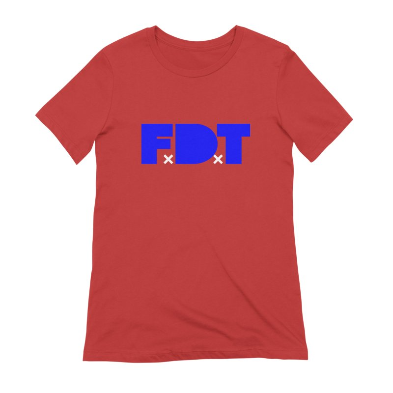 TDE x FDT Blue (Men's & Women's) Women's Extra Soft T-Shirt by NPHA.SHOP
