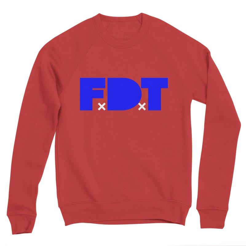 TDE x FDT Blue (Men's & Women's) Men's Sponge Fleece Sweatshirt by NPHA.SHOP