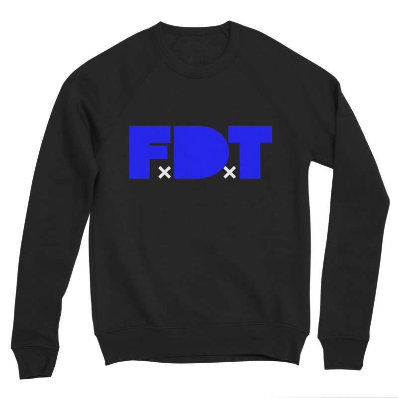 TDE x FDT Blue (Men's & Women's) Men's Sponge Fleece Sweatshirt by NPHA.SHOP