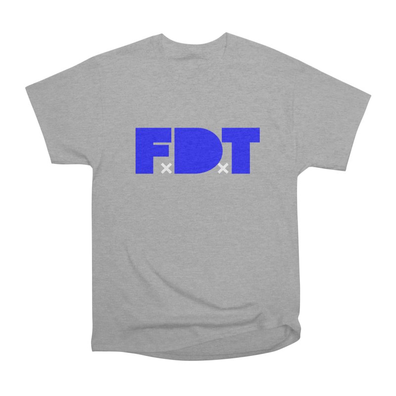 TDE x FDT Blue (Men's & Women's) in Men's Heavyweight T-Shirt Heather Graphite by NPHA.SHOP