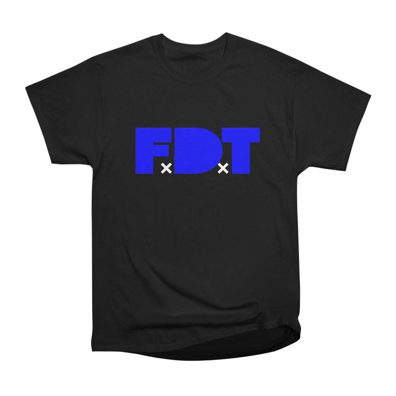 TDE x FDT Blue (Men's & Women's) Men's Heavyweight T-Shirt by NPHA.SHOP