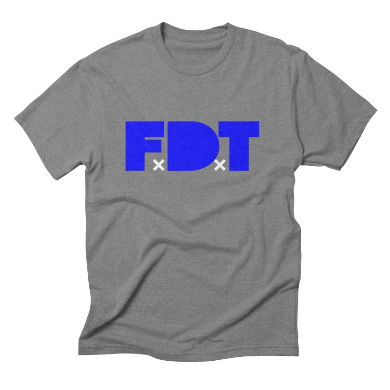 TDE x FDT Blue (Men's & Women's) Men's Triblend T-Shirt by NPHA.SHOP