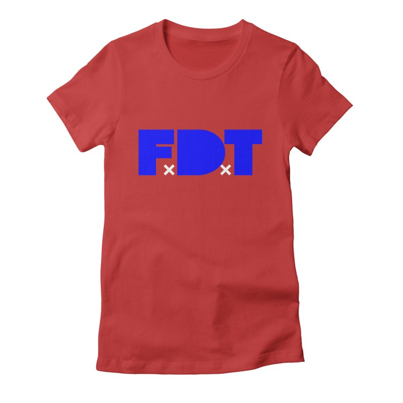 TDE x FDT Blue (Men's & Women's) Women's Fitted T-Shirt by NPHA.SHOP