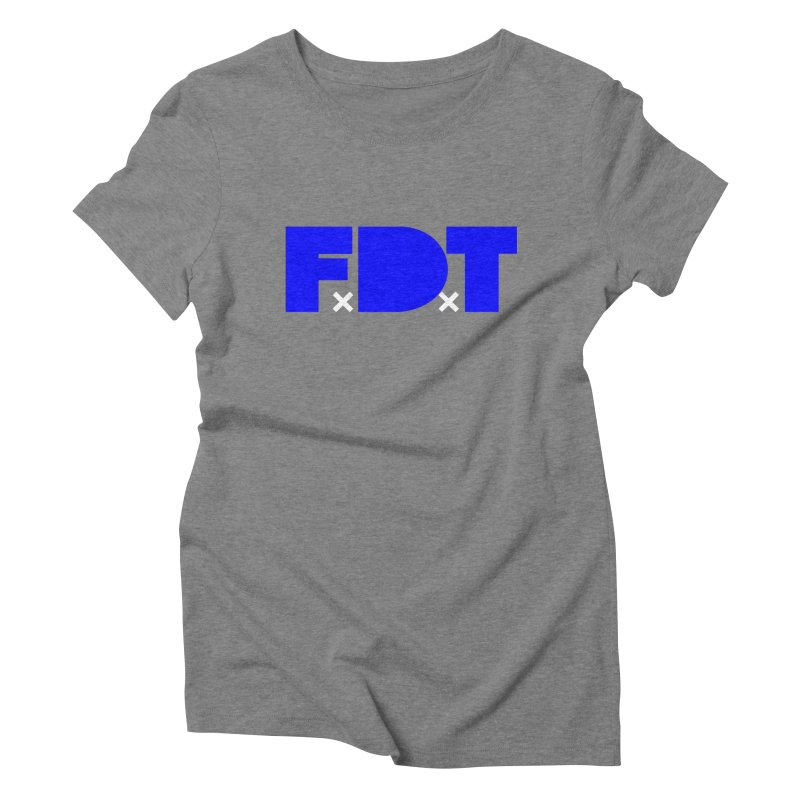 TDE x FDT Blue (Men's & Women's) Women's Triblend T-Shirt by NPHA.SHOP