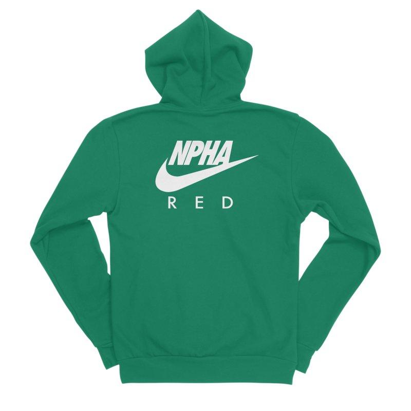 NPHA RED II (Men's & Women's) Men's Sponge Fleece Zip-Up Hoody by NPHA.SHOP