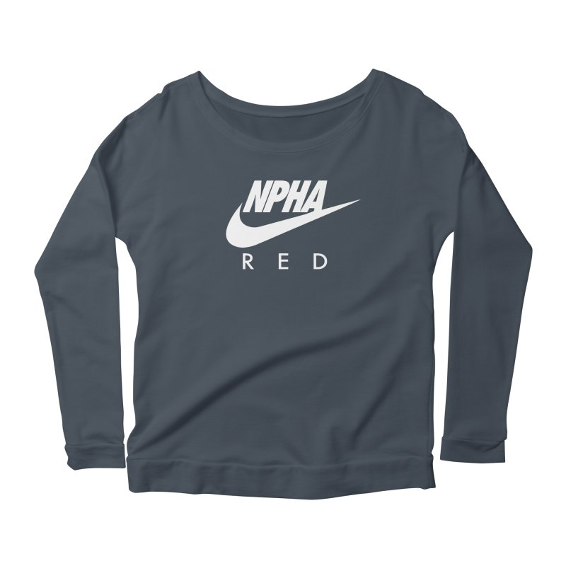 NPHA RED II (Men's & Women's) Women's Scoop Neck Longsleeve T-Shirt by NPHA.SHOP