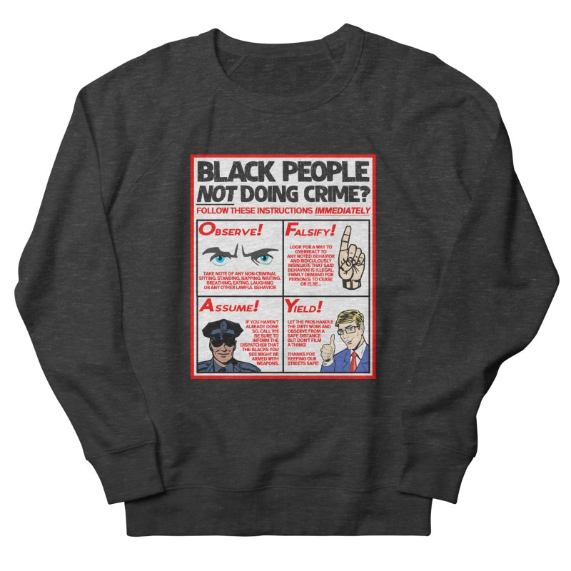 Living While Black (Men's & Women's) Men's French Terry Sweatshirt by NPHA.SHOP