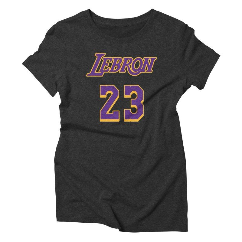 L.A. Bron Alternate (Men's & Women's) Women's Triblend T-Shirt by NPHA.SHOP