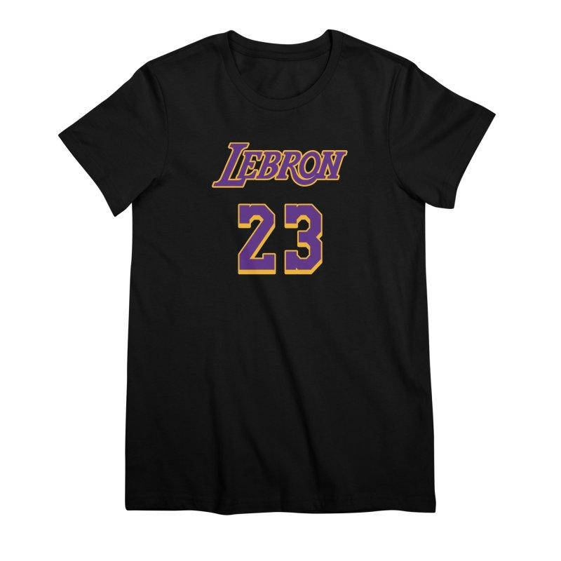 L.A. Bron Alternate (Men's & Women's) Women's Premium T-Shirt by NPHA.SHOP