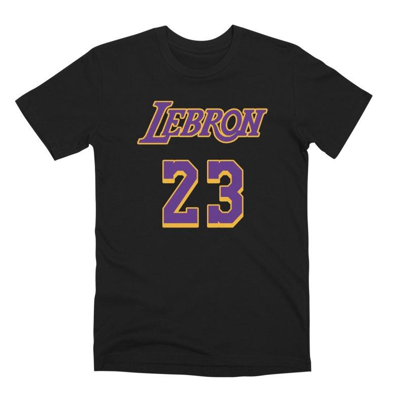 L.A. Bron Alternate (Men's & Women's) Men's Premium T-Shirt by NPHA.SHOP