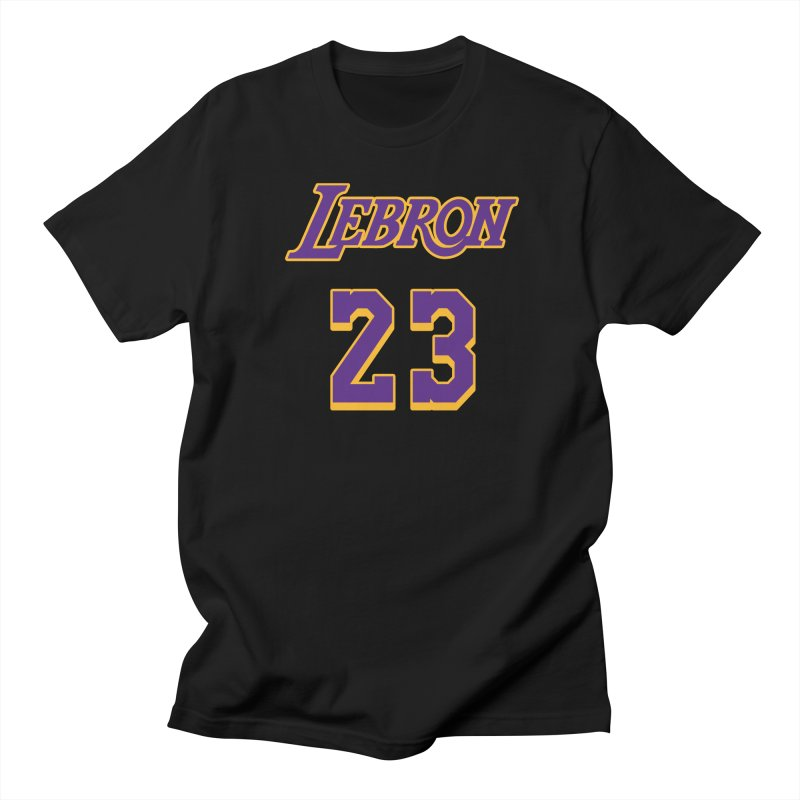 L.A. Bron Alternate (Men's & Women's) in Men's Regular T-Shirt Black by NPHA.SHOP