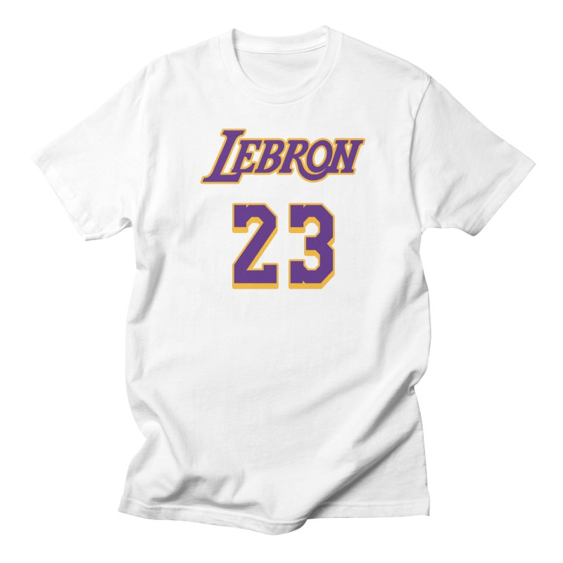 L.A. Bron Alternate (Men's & Women's) in Men's Regular T-Shirt White by NPHA.SHOP