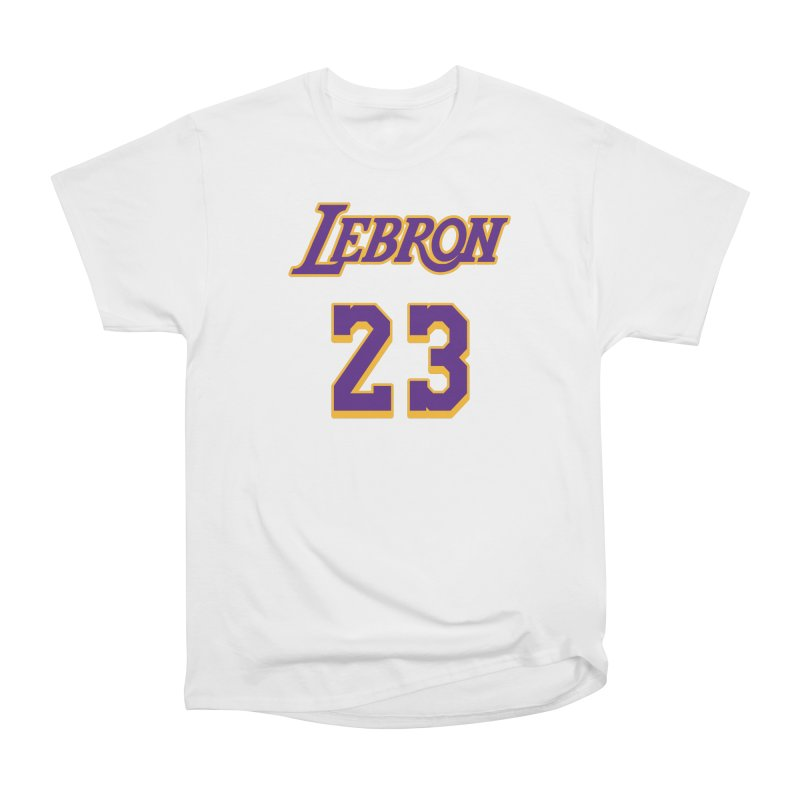 L.A. Bron Alternate (Men's & Women's) Men's Heavyweight T-Shirt by NPHA.SHOP