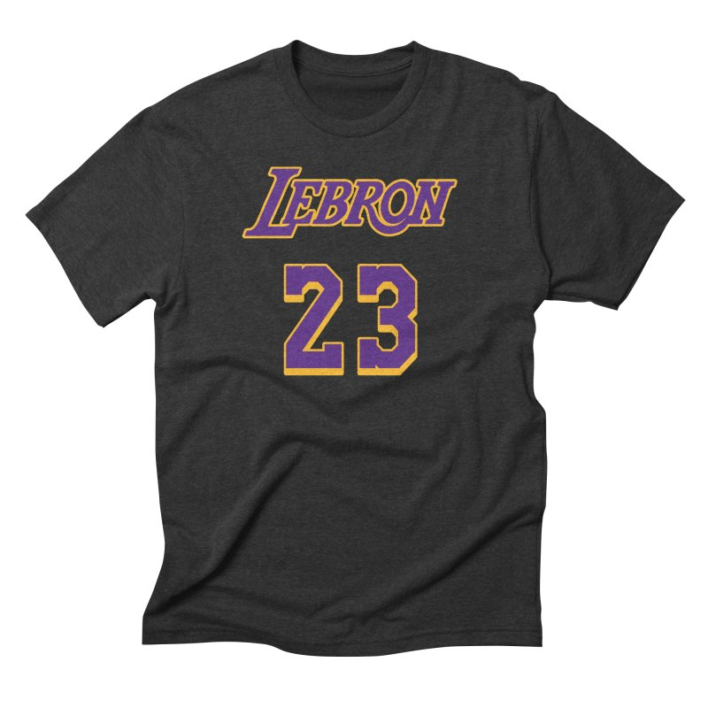 L.A. Bron Alternate (Men's & Women's) Men's Triblend T-Shirt by NPHA.SHOP