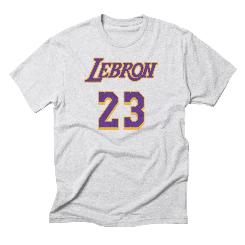 L.A. Bron Alternate (Men's & Women's) Men's Triblend T-Shirt by NPHA.SHOP