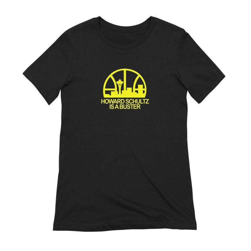 Howard Schultz Is A Buster (Men's & Women's) Women's Extra Soft T-Shirt by NPHA.SHOP