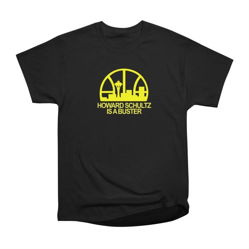 Howard Schultz Is A Buster (Men's & Women's) in Men's Heavyweight T-Shirt Black by NPHA.SHOP