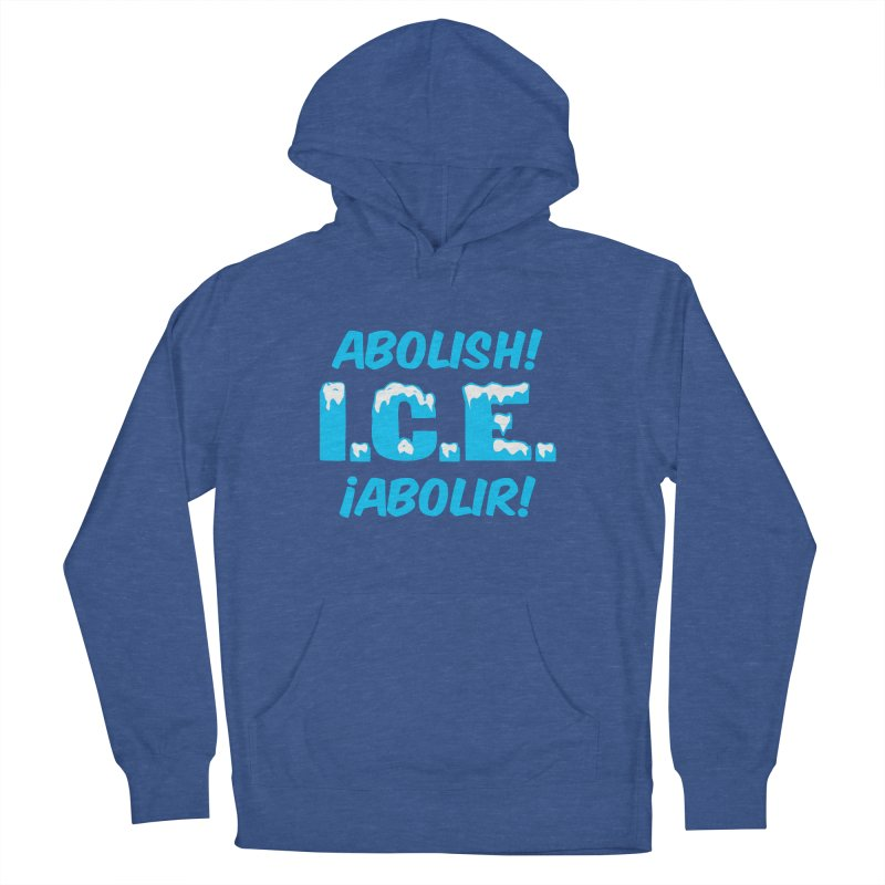Abolish I.C.E. (Men's & Women's) in Men's French Terry Pullover Hoody Heather Royal by NPHA.SHOP