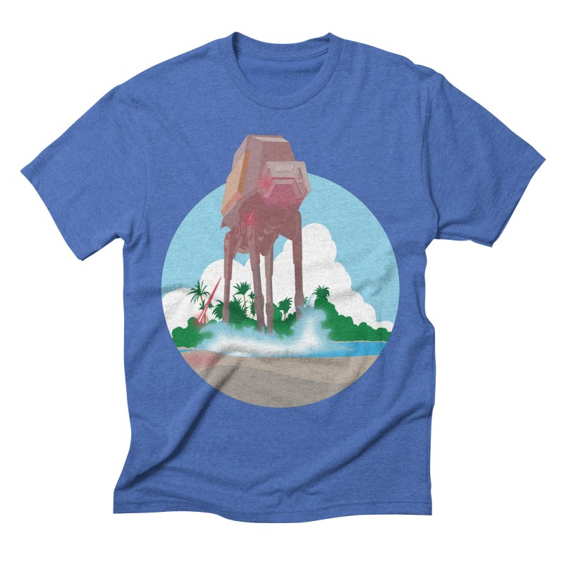 AT on the Beach in Men's Triblend T-Shirt Blue Triblend by nrdshirt's Shop