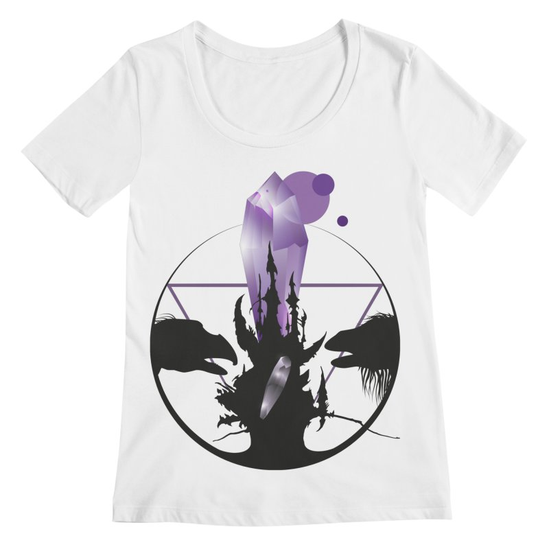 Dark Crystal Women's Regular Scoop Neck by nrdshirt's Shop