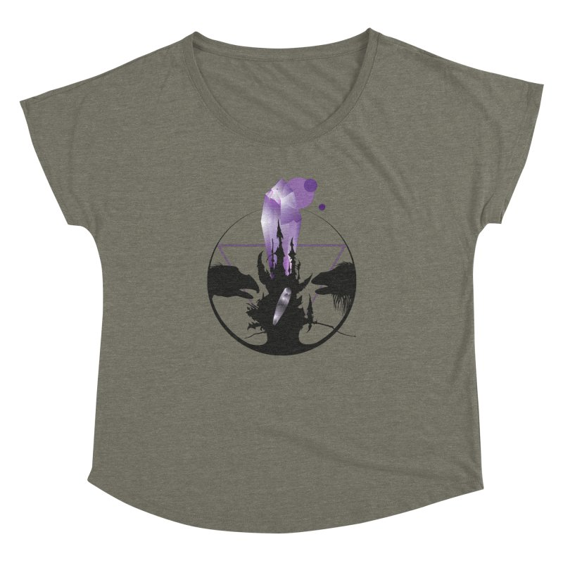 Dark Crystal Women's Dolman Scoop Neck by nrdshirt's Shop