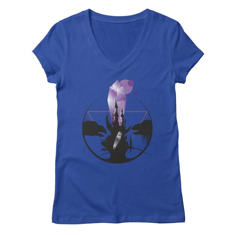Dark Crystal Women's V-Neck by nrdshirt's Shop