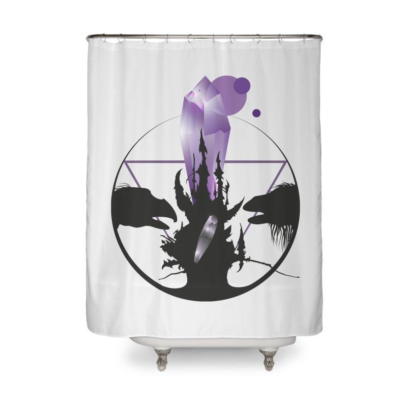 Dark Crystal Home Shower Curtain by nrdshirt's Shop