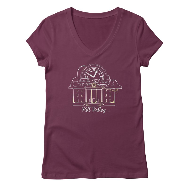 Save the clock tower v1 Women's V-Neck by nrdshirt's Shop