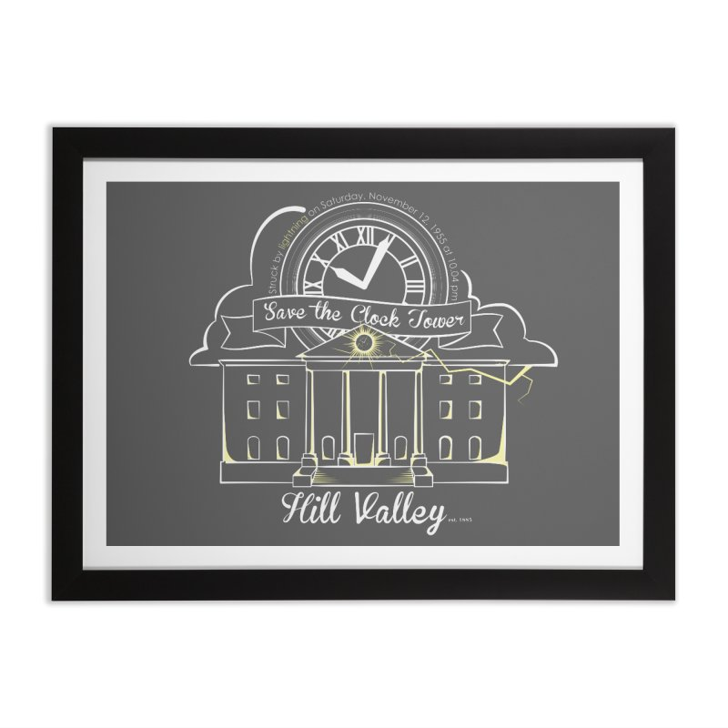 Save the clock tower v1 Home Framed Fine Art Print by nrdshirt's Shop