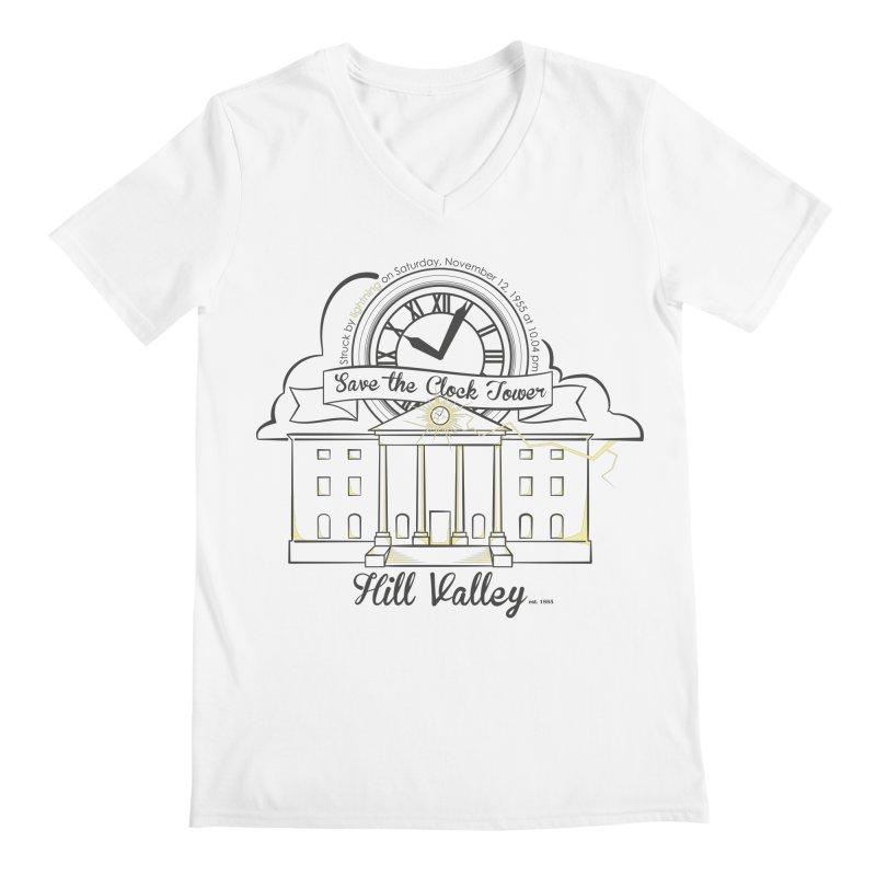 Save the clock tower v2 Men's Regular V-Neck by nrdshirt's Shop