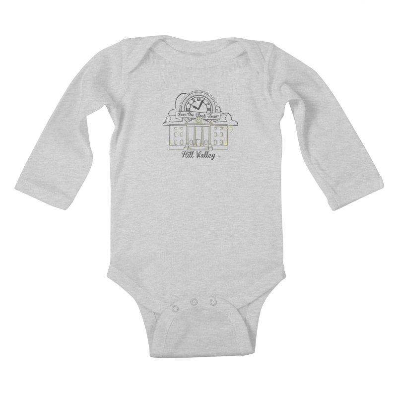 Save the clock tower v2 Kids Baby Longsleeve Bodysuit by nrdshirt's Shop