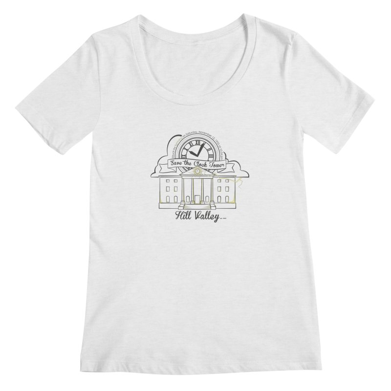 Save the clock tower v2 Women's Regular Scoop Neck by nrdshirt's Shop